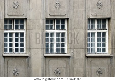 Three Old Windows