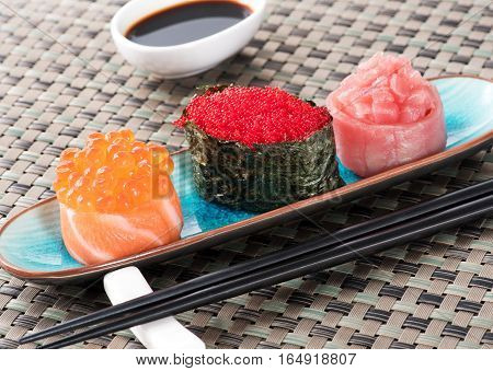 Set Of Gunkan Maki Sushi