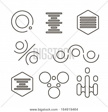 Simple Science Logo Set