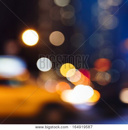 Abstract Blurred Image Of Nyc Streets
