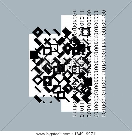 Vector geometric digital composition abstract graphic art.