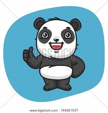 Vector Illustration, Panda Showing Thumbs Up, Format EPS 8
