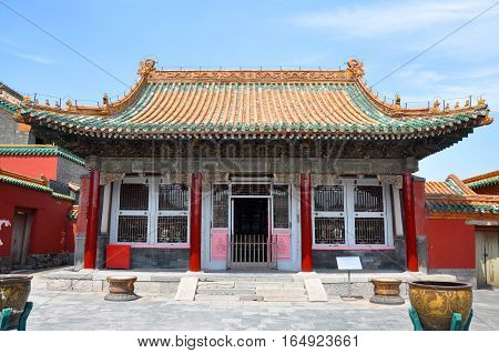 Yihe Hall in the Shenyang Imperial Palace (Mukden Palace), Shenyang, Liaoning Province, China. Shenyang Imperial Palace is UNESCO world heritage site built in 400 years ago.
