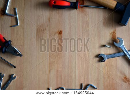 Background with working tools, representing work, DIY, home improvements