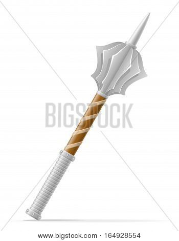 Battle Mace Medieval Stock Vector Illustration