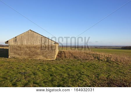 Farm Building And Wheat