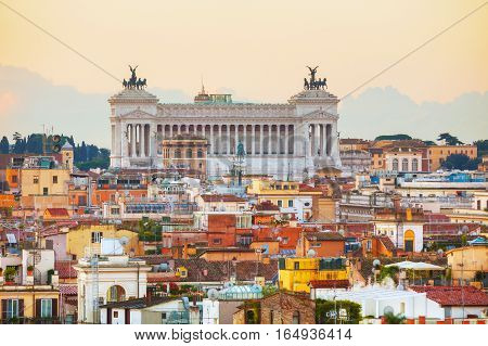 Altare Della Patria monument in Rome Italy