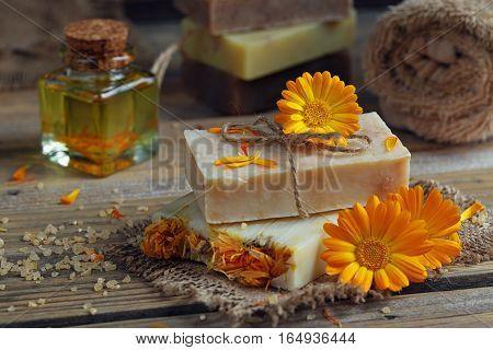 Natural Handmade Soap With Calendula