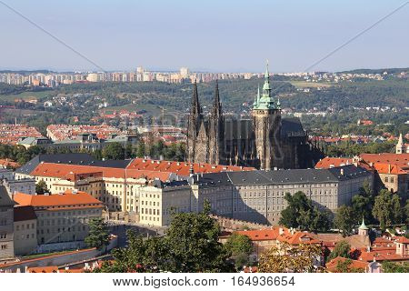 View Of The Cathedral And Prague Castle  In The Czech Republic