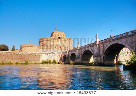 The Mausoleum of Hadrian (Castel Sant'Angelo) in Rome Italy