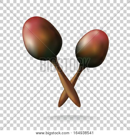 Maracas on transparent background Mexico. vector Illustration