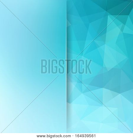 Polygonal blue vector background. Blur background. Can be used in cover design, book design, website background. Vector illustration