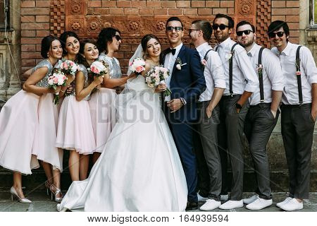 Special Moment On The Wedding Of The Elegant Couple