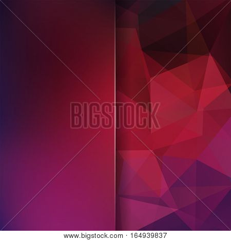 Abstract background consisting of purple, brown triangles. Geometric design for business presentations or web template banner flyer. Vector illustration