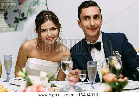 Nice Photo Of The Married Couple On The Wedding Celebration