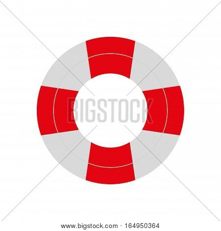 red and white life buoy safety travel vector illustration eps 10