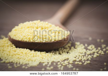 Cous Cous On A Wooden Spoon