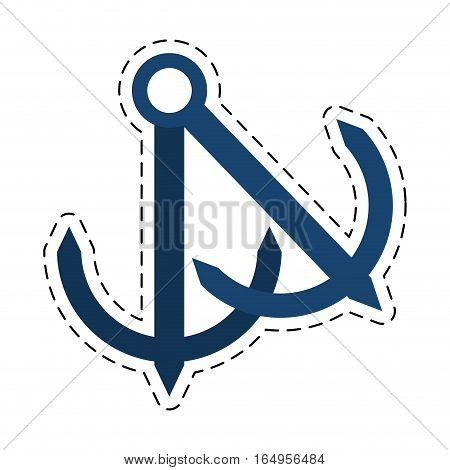 anchor nautical travel maritime cut line vector illustration eps 10