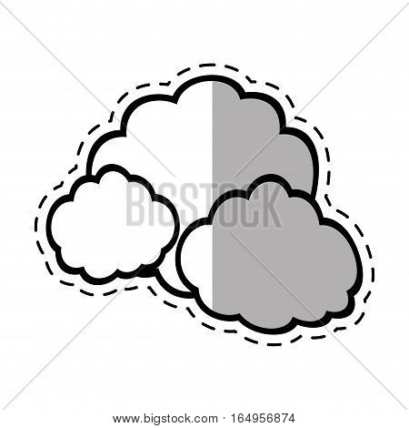 cloud climate weather shadow vector illustration eps 10
