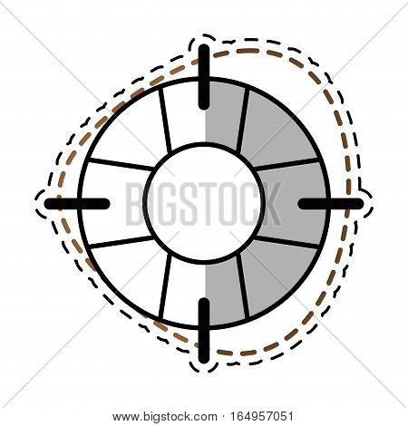 life buoy safety travel shadow vector illustration eps 10