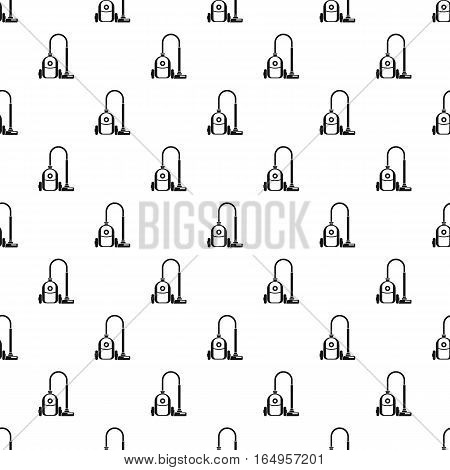 Simple illustration of vacuum cleaner vector pattern for web