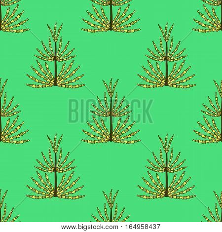 Seamless pattern of prehistoric plants horsetail for textiles, paper, wallpaper.