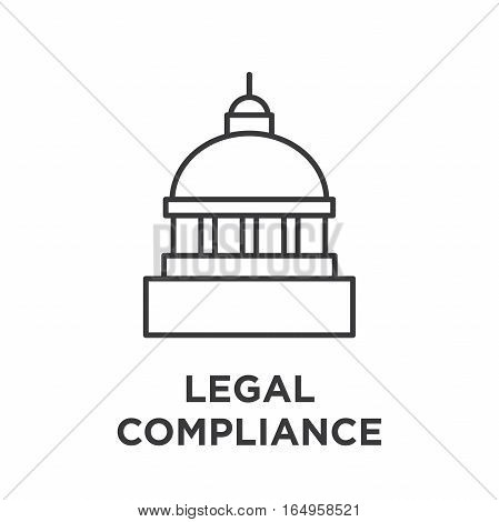 Legal Compliance Graphic With Capitol Building.