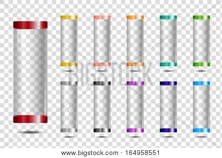 set glass tubes or test tubes - vector design