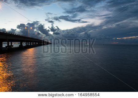 Causeway from South Padre Island to Port Isable.