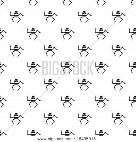 Robot pattern. Simple illustration of robot vector pattern for web