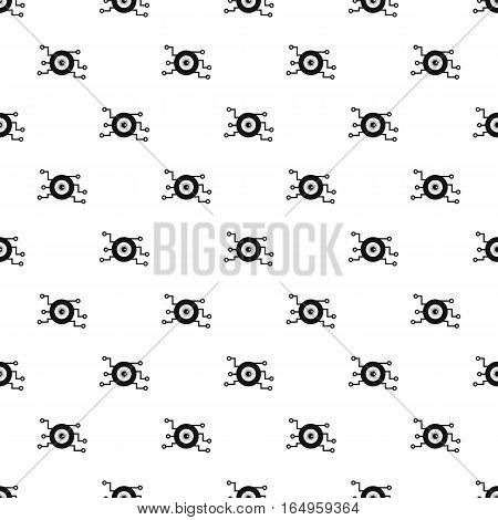 Cyber eye pattern. Simple illustration of cyber eye vector pattern for web