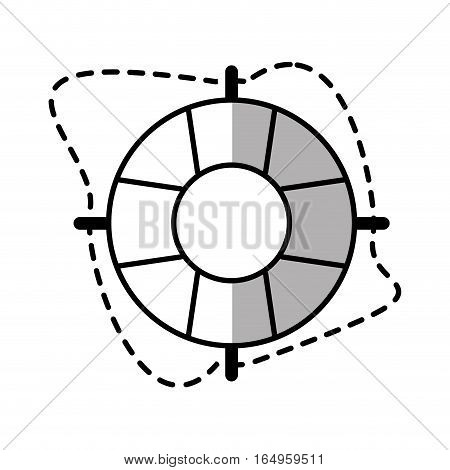 life buoy rope safety travel line shadow vector illustration eps 10
