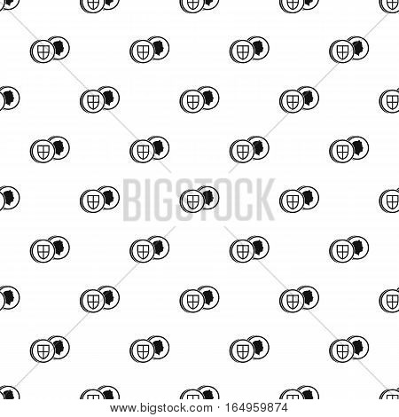 Pound coin pattern. Simple illustration of pound coin vector pattern for web