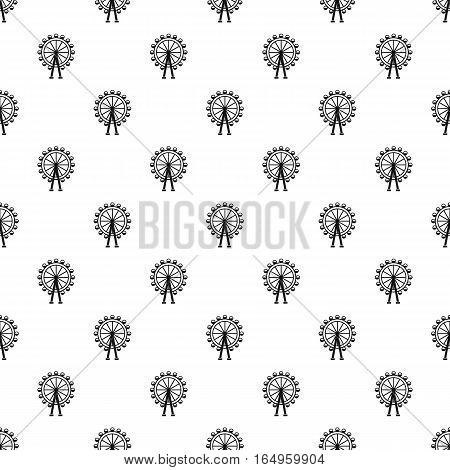 Ferris wheel pattern. Simple illustration of ferris wheel vector pattern for web