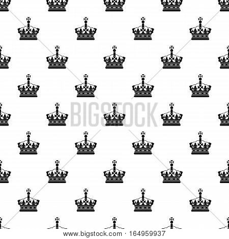 Royal crown pattern. Simple illustration of royal crown vector pattern for web