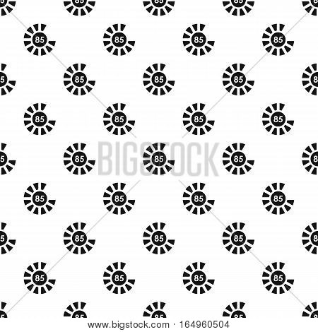 Circle loading, 85 percent pattern. Simple illustration of circle loading, 85 percent vector pattern for web