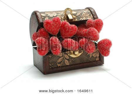 Red Hearts In The Box