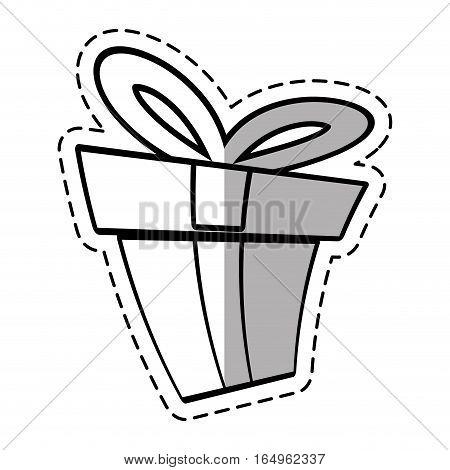 gift box ribbon elegant present linea shadow vector illustration eps 10