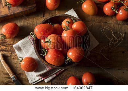 Raw Red Organic Roma Tomatoes