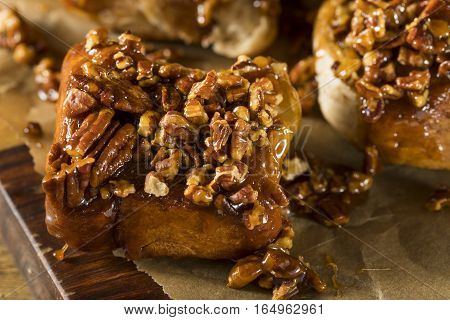 Homemade Glazed Pecan Sticky Buns