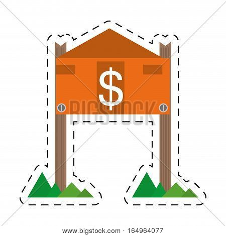 real estate housing market value price cut line vector illustration eps 10