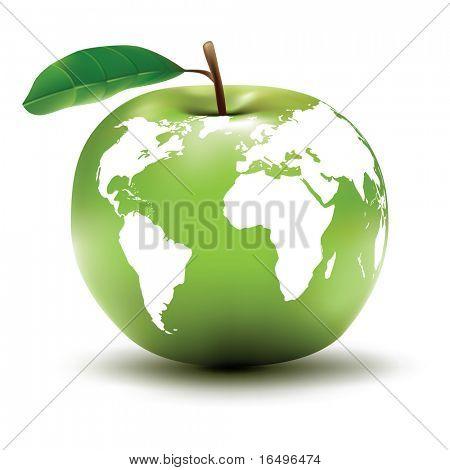 environmental earth concept / apple / globe / vector