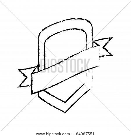 shield protection template sketch vector illustration eps 10
