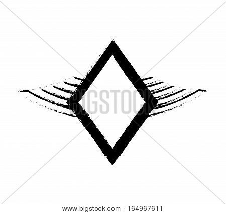 shield security winged sketch vector illustration eps 10