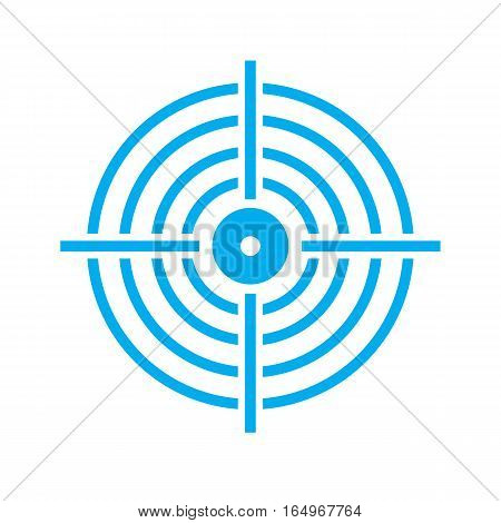 target icon on white background. target sign.