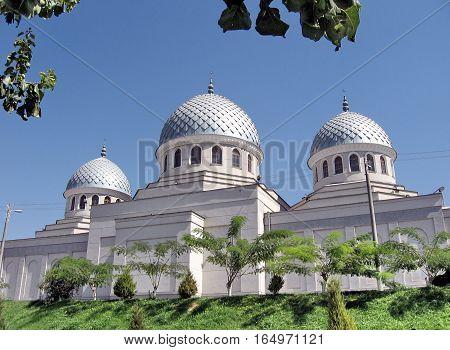 Three cupolas of Juma Mosque in Tashkent Uzbekistan September 13 2007
