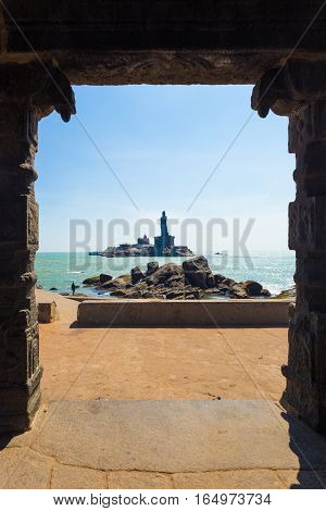Kanyakumari Mandap View Thiruvalluvar Statue