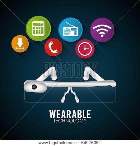 vr glasses wearable technology digital vector illustration eps 10