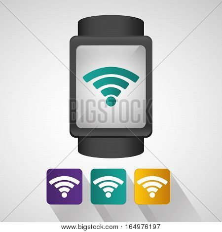 smart watch wearable technology internet with shadow vector illustration eps 10