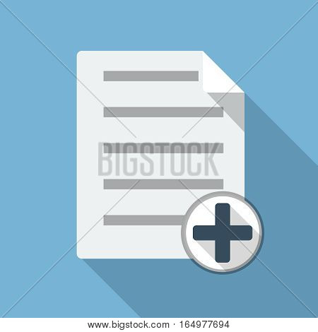 Add File Document illustration, design element for mobile and web applications, eps 10